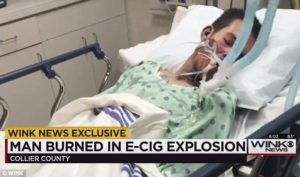 E-cig accident photo
